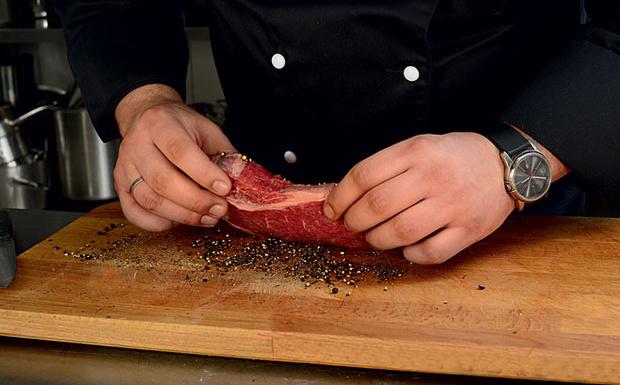 Поперчить (Рибай а-ля паризьен рецепт в фото)