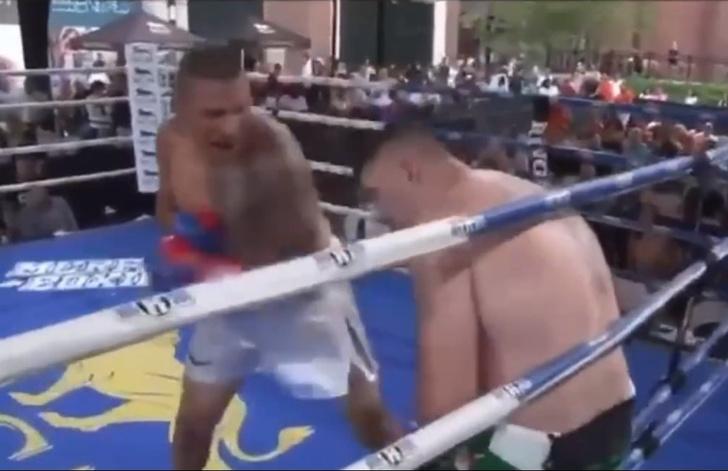 Фото №1 - Небитый тяжеловес нокаутирован досрочно в упорном бою (видео)