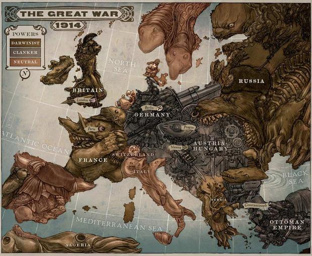 Фото №1 - Как рисовали Россию на карикатурных картах иностранцы (20 коварных Россий)