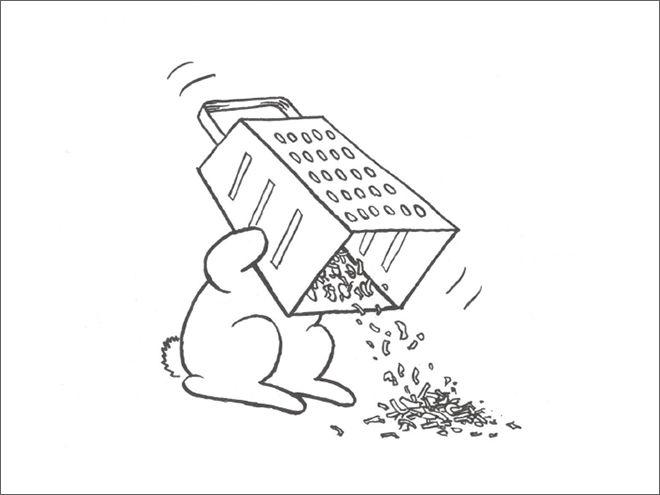 Фото №17 - Смешные и жестокие картинки про кроликов-самоубийц