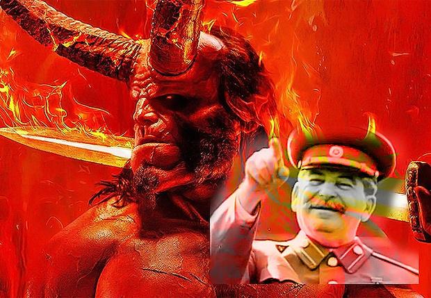 Фото №1 - В фильме «Хеллбой» наши переводчики превратили Сталина в Гитлера