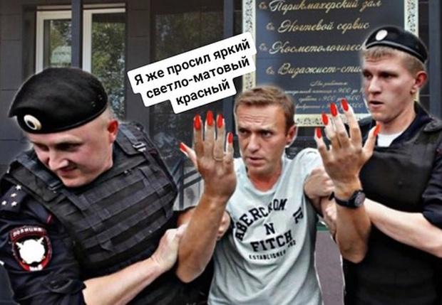 Фото №1 - Навальный показал самые смешные фотожабы на свое задержание (галерея)