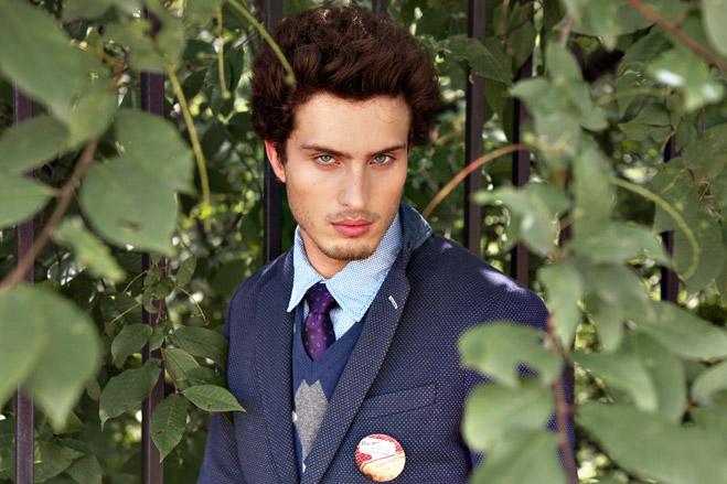 Пиджак Gant, джемпер Gant, рубашка Tom Tailor, брюки Tru Trussardi, галстук Pal Zileri