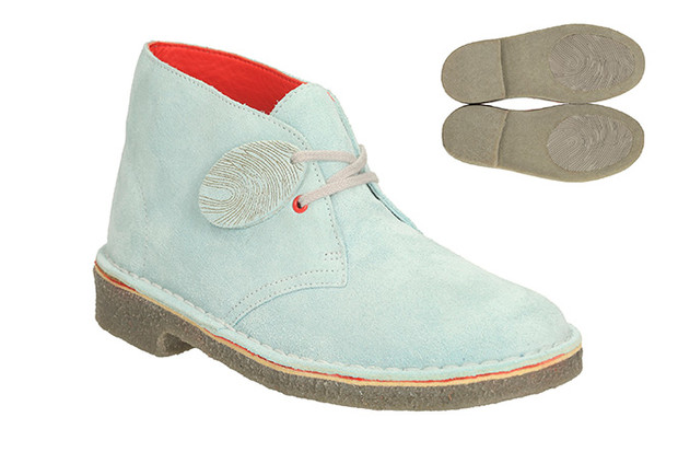 Clarks: Rebooted Desert Fingers Ice Blue Suede