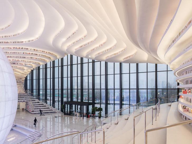 Фото №2 - Самая крутая библиотека во Вселенной! Она выглядит как космопорт будущего, и у нее есть гигантский глаз