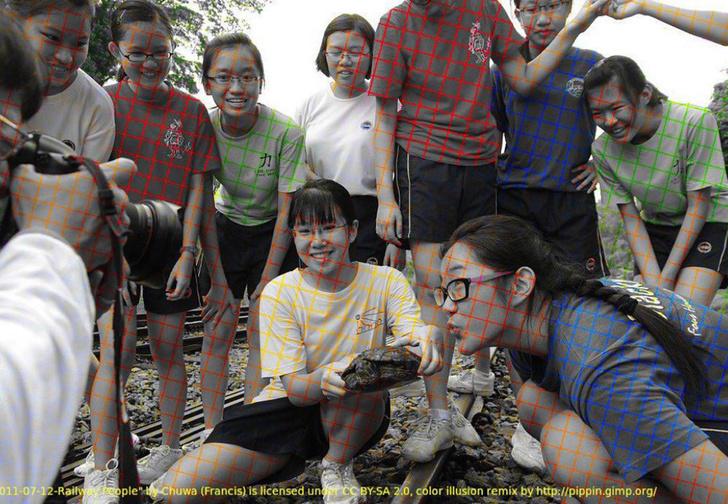 Фото №1 - Новая оптическая иллюзия — черно-белое фото, которое выглядит цветным