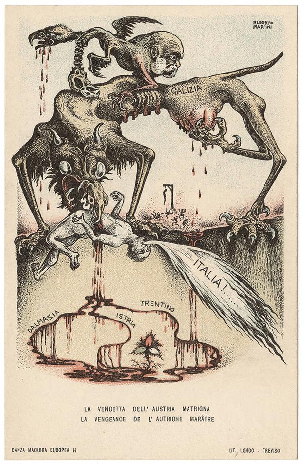 Фото №6 - Жутковатые карикатуры Первой мировой