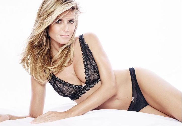 Фото №1 - Супермодель Хайди Клум снялась в откровенной рекламе собственной марки нижнего белья