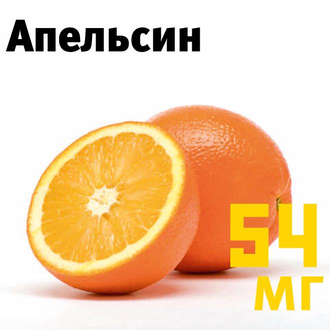 Сколько витамина С в апельсине