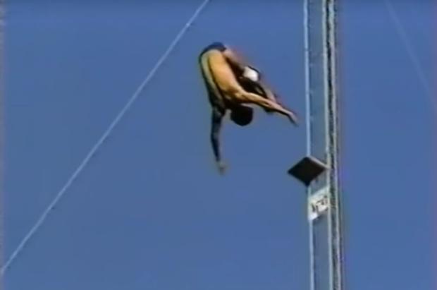 Фото №1 - История одного видео: прыжок с высоты 52 метра, март 1983 года