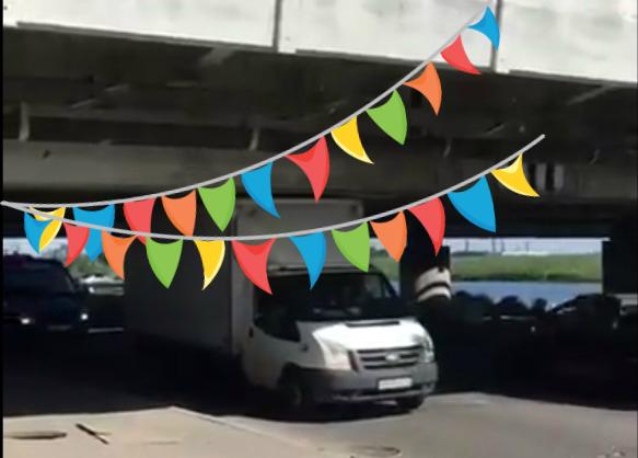 Фото №1 - Под легендарным мостом «Газель не проедет!» таки проехал грузовик! (Вдохновляющее ВИДЕО)