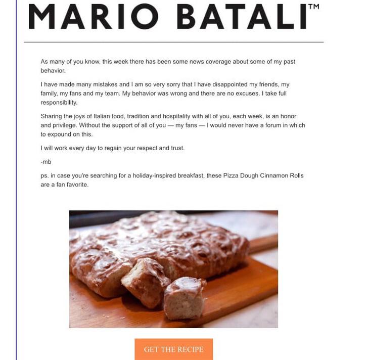 Фото №2 - Извиняясь за харассмент, известный повар рассказал рецепт булочек с корицей