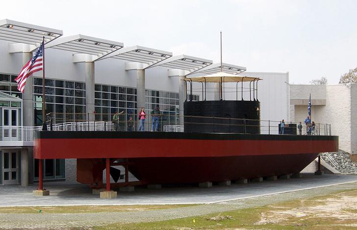 Макет «Монитора» в Морском музее