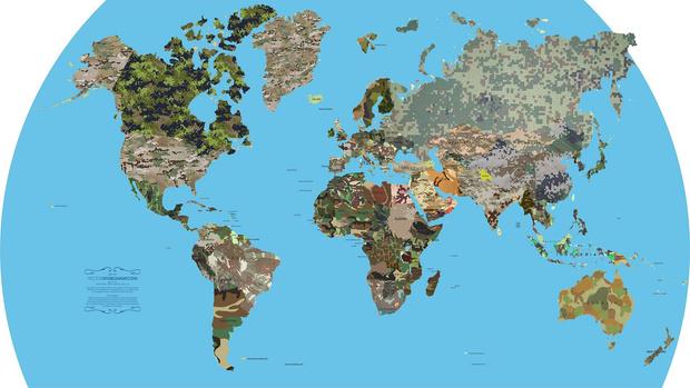 Фото №2 - Карта: маскировочная окраска всех армий мира на одной картинке