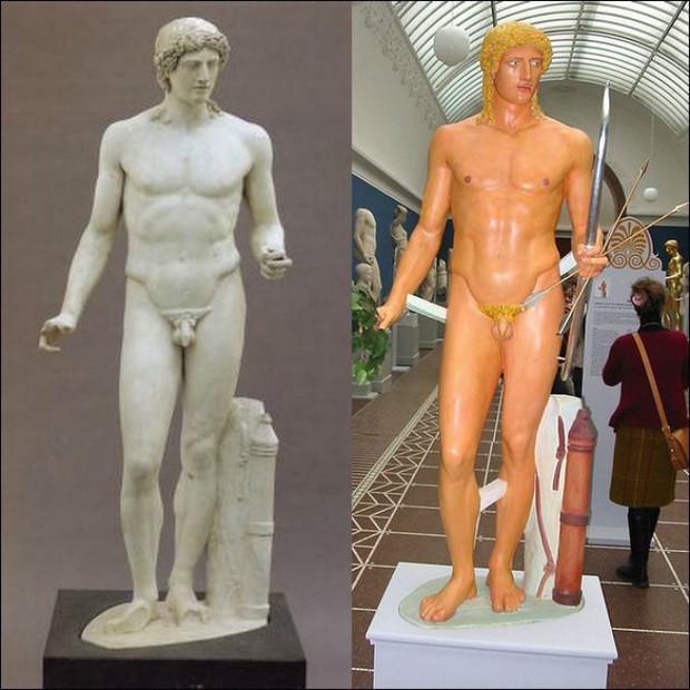 Фото №2 - Полюбуйся, как на самом деле выглядели античные статуи!