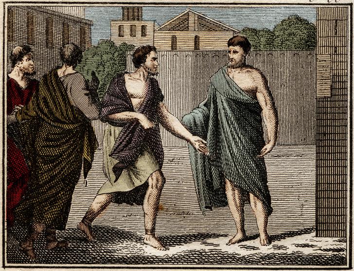 Остракизм Аристида, гравюра 1816года