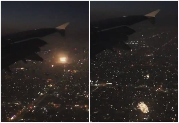 Фото №1 - Твит дня: вид на тысячи фейерверков из иллюминатора самолета (видео)