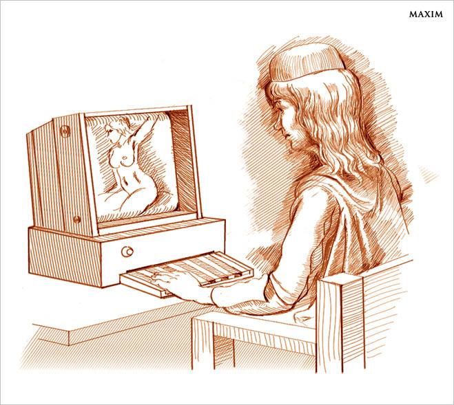 Первое изображение интернета - изобретения Леонардо Да Винчи