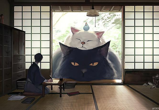 Фото №1 - Художник недели: умиротворенные гигантские зверушки японца Ariduka55