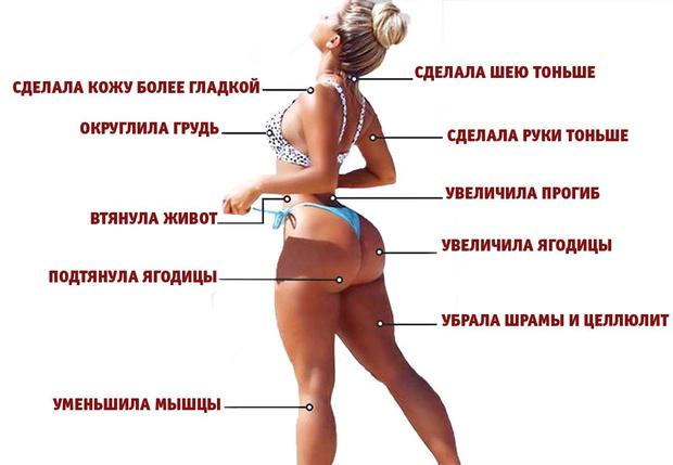 Фото №2 - Тест на внимательность! Модель показала свой снимок в бикини до и после фотошопа — найди все отличия