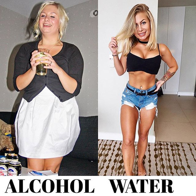 Фото №1 - Фитнес-модель показала, как изменилось ее тело после отказа от алкоголя