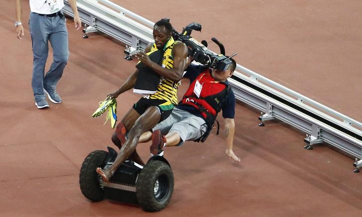 Фото №1 - Самого быстрого человека планеты сбил самый медленный человек!