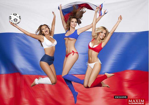 Фото №2 - Красавицы и кубок. Жены футболистов  сборной России позируют и желают победы!