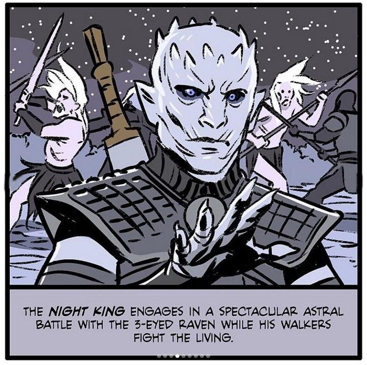 Фото №6 - Спасение Миссандеи и ледяные пауки: художник нарисовал сцены, которых не хватает в «Игре престолов»