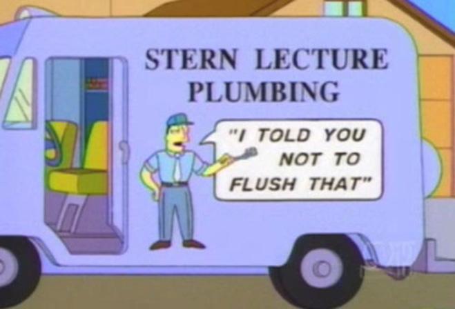 Фургон водопроводчика в Симпсонах
