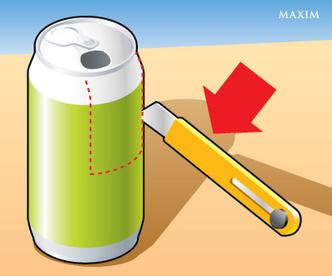 Фото №1 - Как сделать попкорн-машину из алюминиевой банки