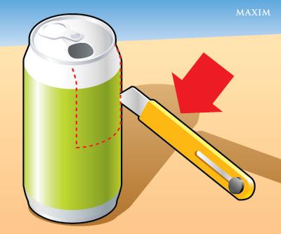 Как сделать попкорн-машину из алюминиевой банки