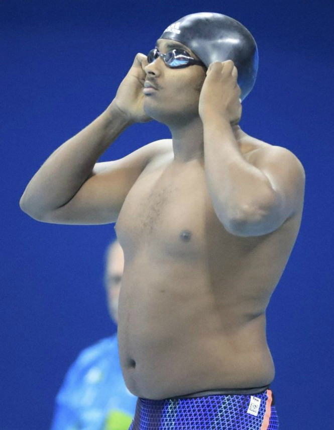 Так выглядит эфиопский пловец Робел Кирос Хабте, который в первом же старте в Рио уступил победному результату 15 секунд