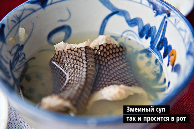Змеиный суп  так и просится в рот