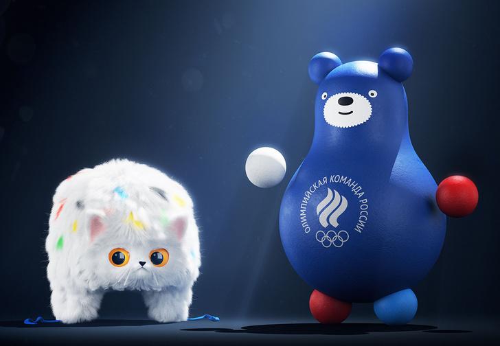 Фото №1 - «Студия Лебедева» создала новые талисманы Олимпийской сборной России, и они уже стали вирусными