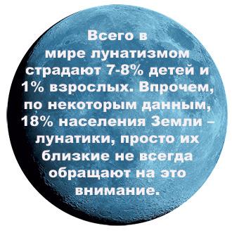 Факты о лунатиках