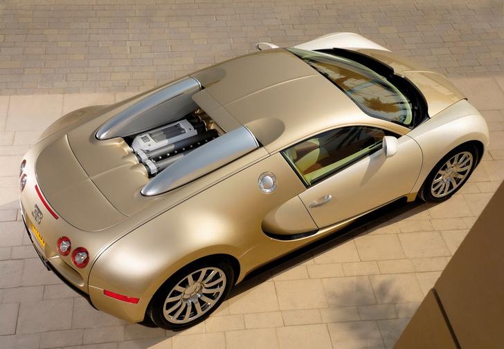 С некоторых ракурсов заметно, что Veyron представляет собой один большой мотор, обложенный тонной радиаторов