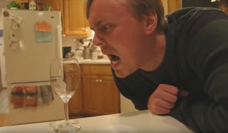 Фото №1 - Как разбить бокал при помощи голоса (ВИДЕО)