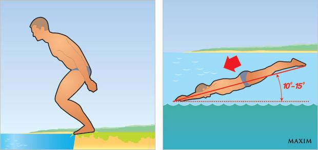 Нырять с берега