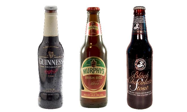 Guinness, Murphy's, Brooklyn Dry Stout