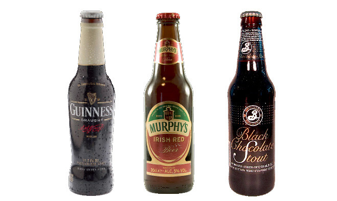Guinness, Murphy's, Brooklyn Dry Stout