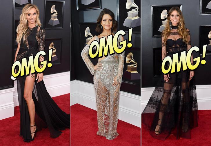 Фото №1 - Лучшие «голые» платья и «вагино-платья» Grammy Awards 2018
