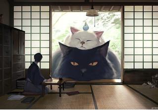 Художник недели: умиротворенные гигантские зверушки японца Ariduka55