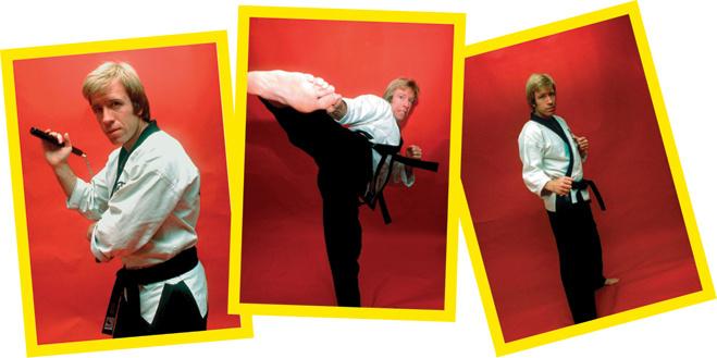 В 1976-м, уже став актером, Чак рекламирует свою школу боевых искусств