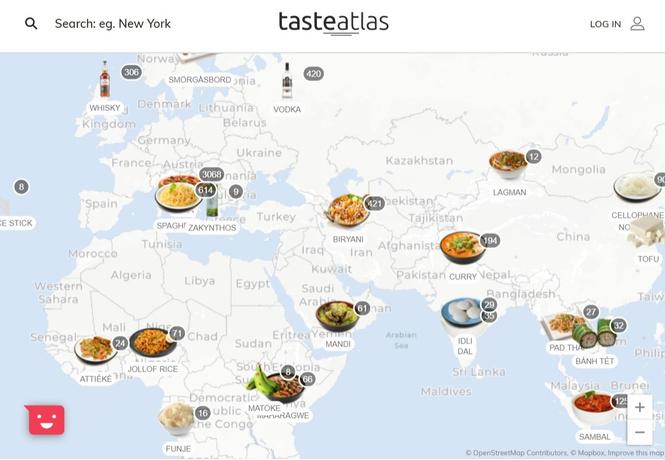 Интерактивная карта: что есть и пить в разных странах мира
