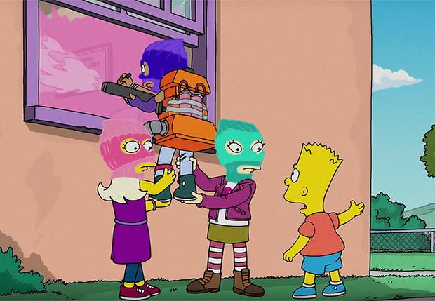 Фото №1 - В новом эпизоде «Симпсонов» появился образ группы Pussy Riot