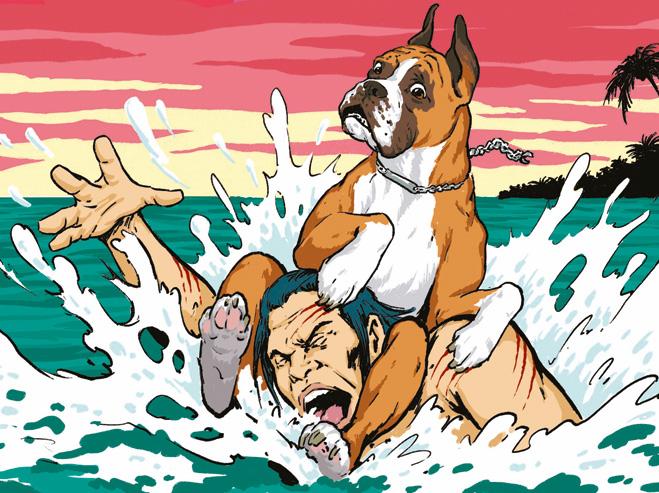 Собака, пытаясь спасти хозяина, искалечила его