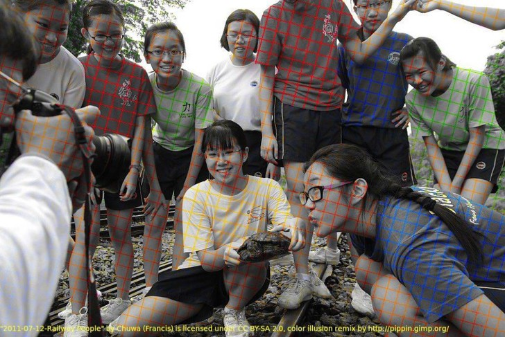 Фото №2 - Новая оптическая иллюзия — черно-белое фото, которое выглядит цветным