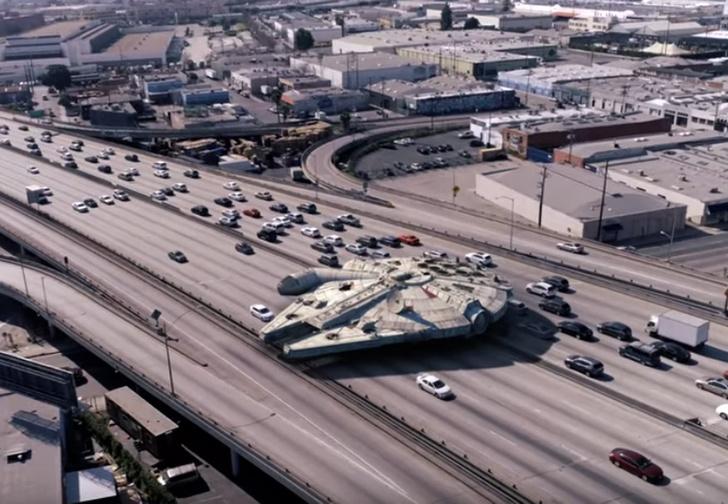 Фото №1 - Как выглядели бы корабли из «Звездных войн» по сравнению с городами Земли (видео)