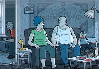 Художник сделал российскую «артхаусную» версию «Симпсонов»
