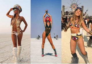 Самые красивые участницы фестиваля Burning Man 2018
